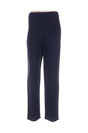 Pantalon casual bleu DONNA BELLA pour femme