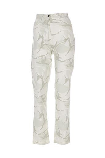 Pantalon casual vert ELISABETH. B pour femme