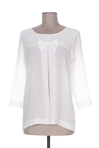 les bonheurs de sophie chemises femme de couleur blanc
