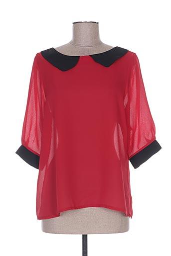 les bonheurs de sophie chemises femme de couleur rouge