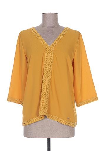 ego chemises femme de couleur jaune