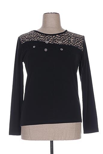 telmail t-shirts femme de couleur noir