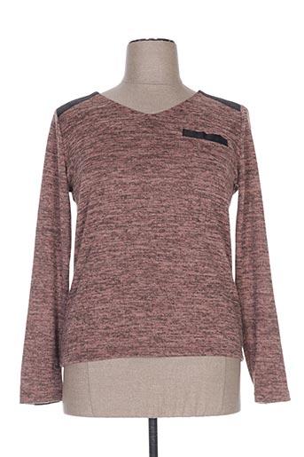 T-shirt manches longues marron PAZ TORRAS pour femme