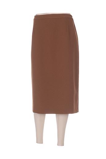 Jupe mi-longue marron COUTUREINE pour femme