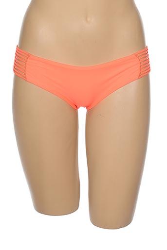 Bas de maillot de bain orange LULI FAMA pour femme