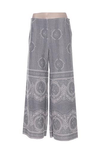 kontessa pantalons femme de couleur gris