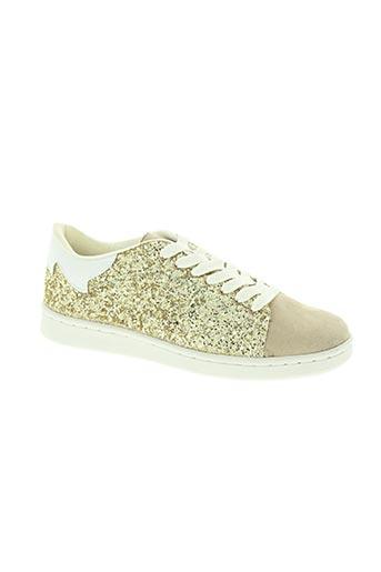 gold & gold chaussures femme de couleur beige