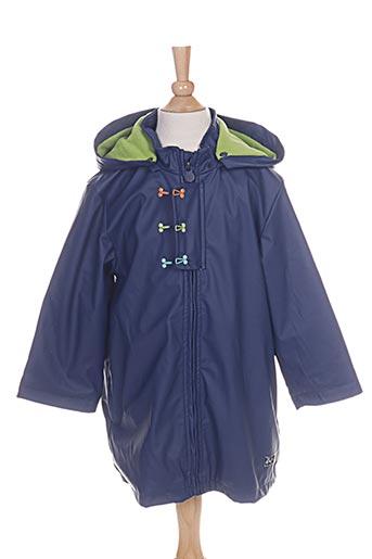 tuc tuc manteaux garçon de couleur bleu