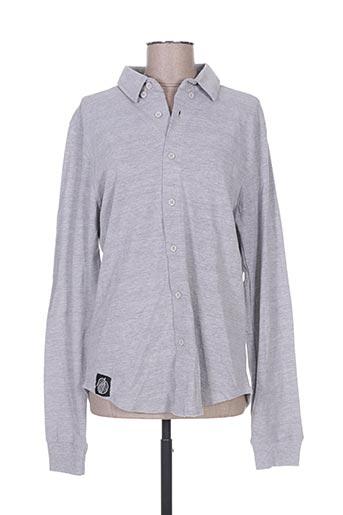 hopenlife chemises femme de couleur gris
