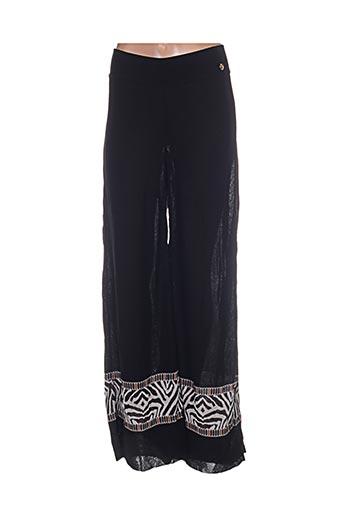 angelo marani pantalons femme de couleur noir