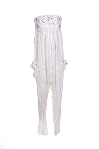Combi-pantalon blanc EMAMO pour femme
