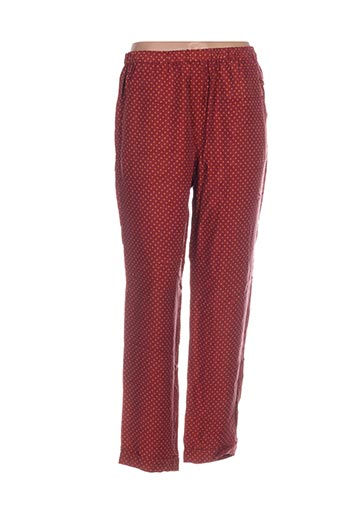 Pantalon casual marron NICE THINGS pour femme
