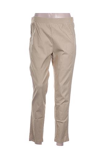 h-3 pantalons femme de couleur beige