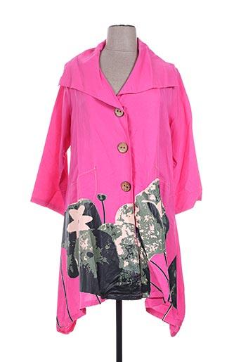 neslay manteaux femme de couleur rose