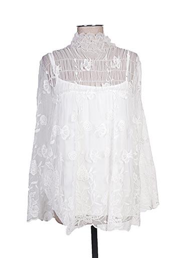 anna rachele chemises femme de couleur blanc