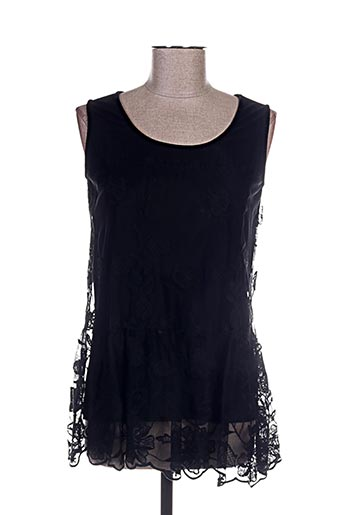 anna rachele chemises femme de couleur noir