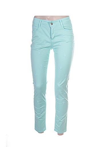 Pantalon casual vert ANNA RACHELE pour femme