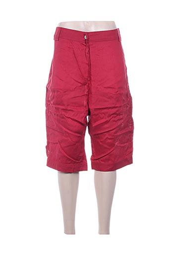 la stampa shorts / bermudas femme de couleur rouge