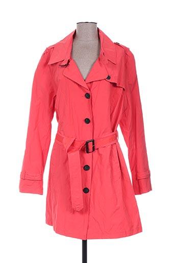 imitz manteaux femme de couleur rouge