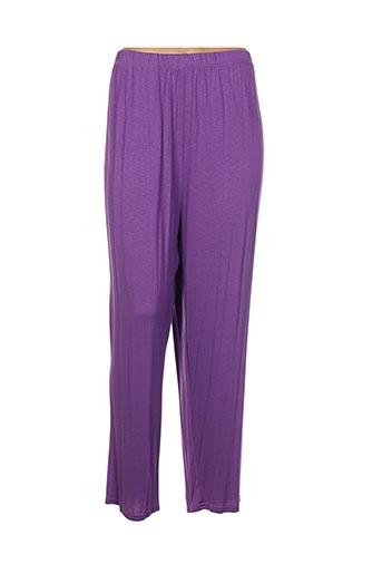 edmond boublil pantalons femme de couleur violet