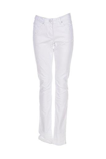 Jeans coupe slim blanc SANDWICH pour femme