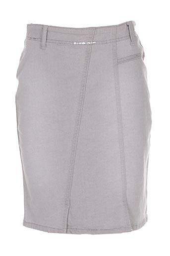 Jupe courte gris SANDWICH pour femme