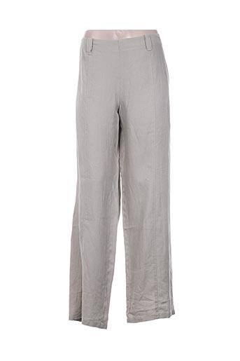 rosa rosam pantalons femme de couleur gris