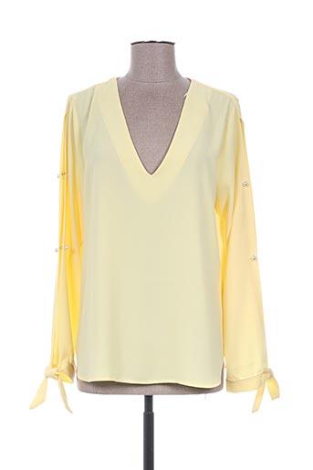 T-shirt manches longues jaune EMA BLUE'S pour femme