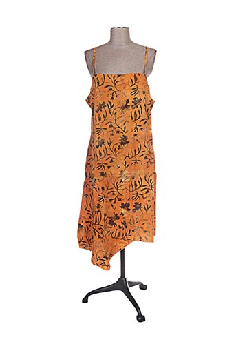 garuda garuzo robes femme de couleur orange