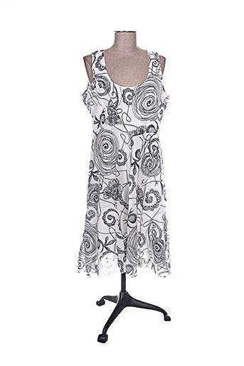 Robe mi-longue blanc CHADIA pour femme