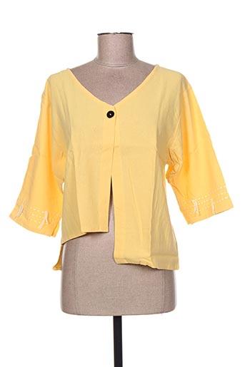 kokomarina vestes femme de couleur jaune