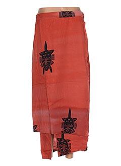 Jupe longue orange GARUDA GARUZO pour femme