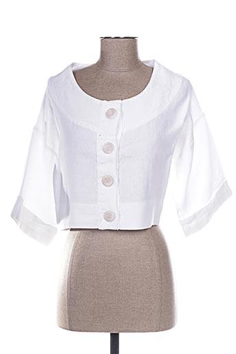 Veste casual blanc ARTHURIO LINO pour femme