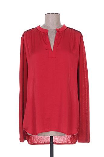 ams pure chemises femme de couleur rouge
