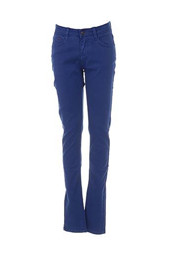 Pantalon casual bleu MKT STUDIO pour femme