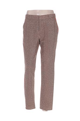 Pantalon casual beige SCOTCH & SODA pour femme