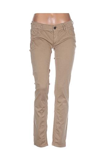 freesoul pantalons femme de couleur beige