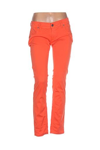 freesoul pantalons femme de couleur orange