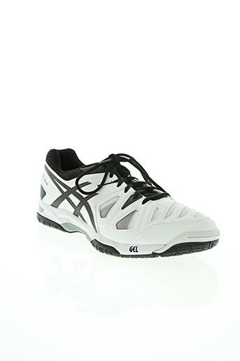 asics chaussures homme de couleur blanc