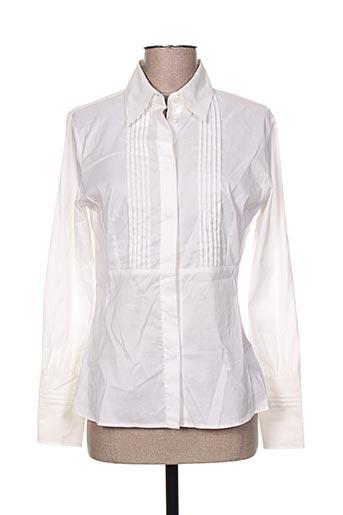 caractere chemises femme de couleur blanc