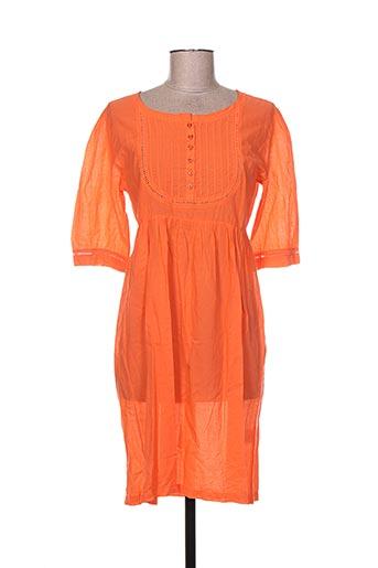 Tunique manches courtes orange KLAYA pour femme