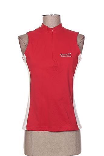 degre7 t-shirts femme de couleur rouge