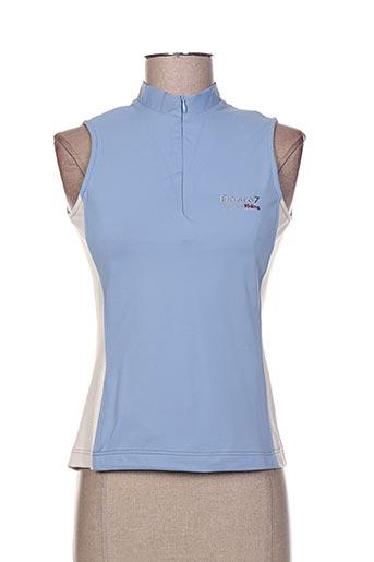 degre7 t-shirts femme de couleur bleu