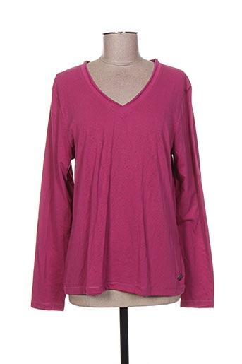 r 867 t-shirts femme de couleur rose