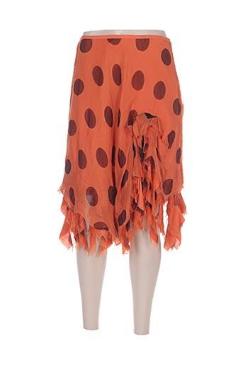 leïko jupes femme de couleur orange