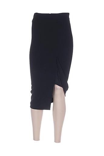 Jupe mi-longue noir ILARIA NISTRI pour femme