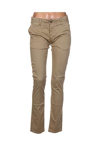 Pantalon casual marron BIAGGIO pour femme