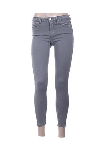 Pantalon casual gris ACNE STUDIOS pour femme