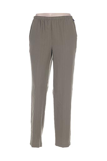 brandtex pantalons femme de couleur vert