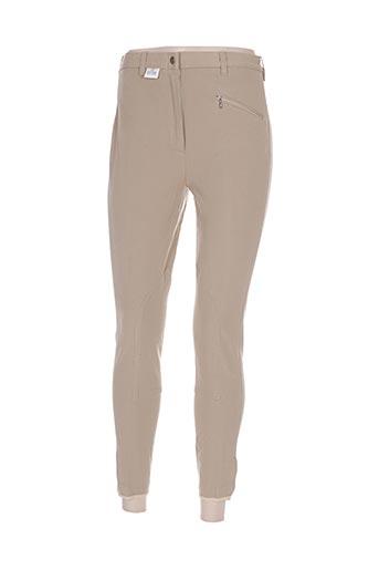 equi-theme pantalons femme de couleur beige